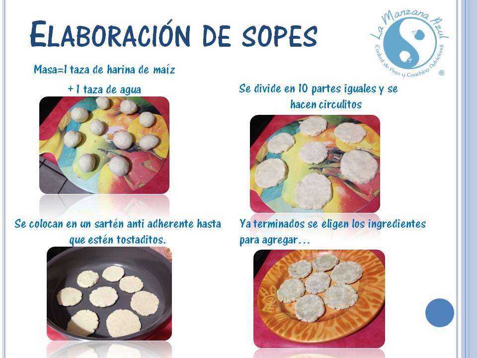 Los sopes, nueva receta de nuestros compañeros nutriólogos mexicanos