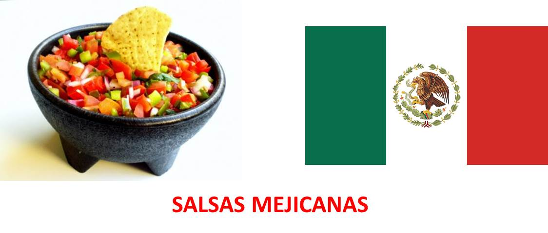 Salsas mexicanas como acompañamiento de huevos, sopas o carnes