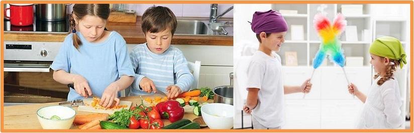 ¡Hoy ayudo en la cocina y en casa!