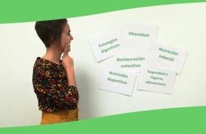 Laura Bilbao enseña las especializaciones en nutrición